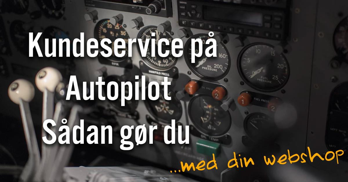 Kundeservice på autopilot - webshop