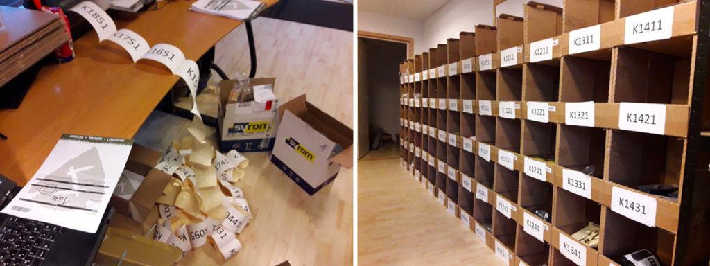 varelager organisering webshop lagerlokationer