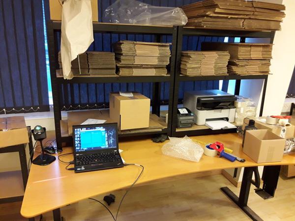 varelager pakkebord lagerlokationer